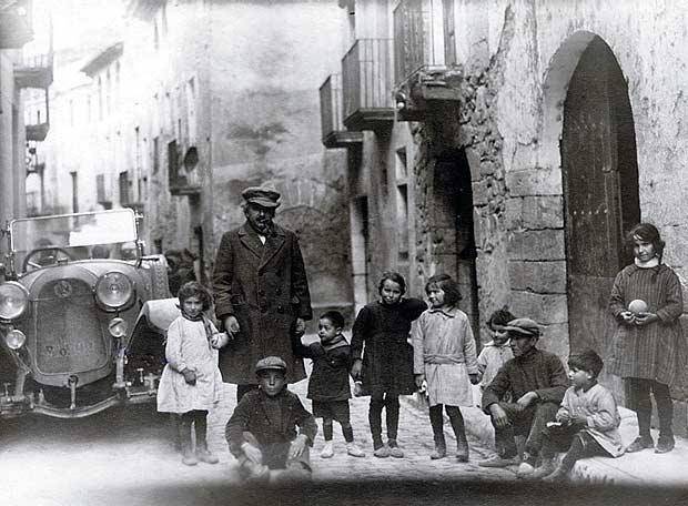Albert Einstein a l'Espluga de Francolí (Tarragona), el 25 de febrer de 1923